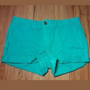 🦋 Jack Wills Turquoise Flat Front Shorts Size 2